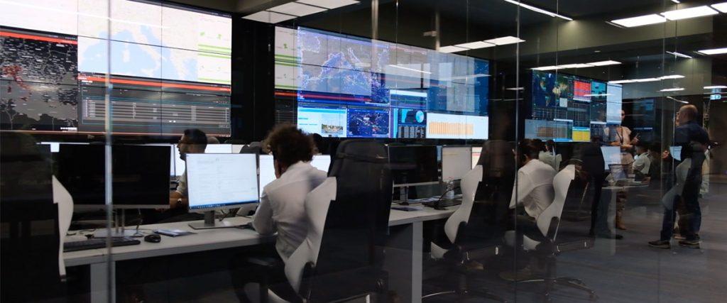 Una sala di monitoraggio