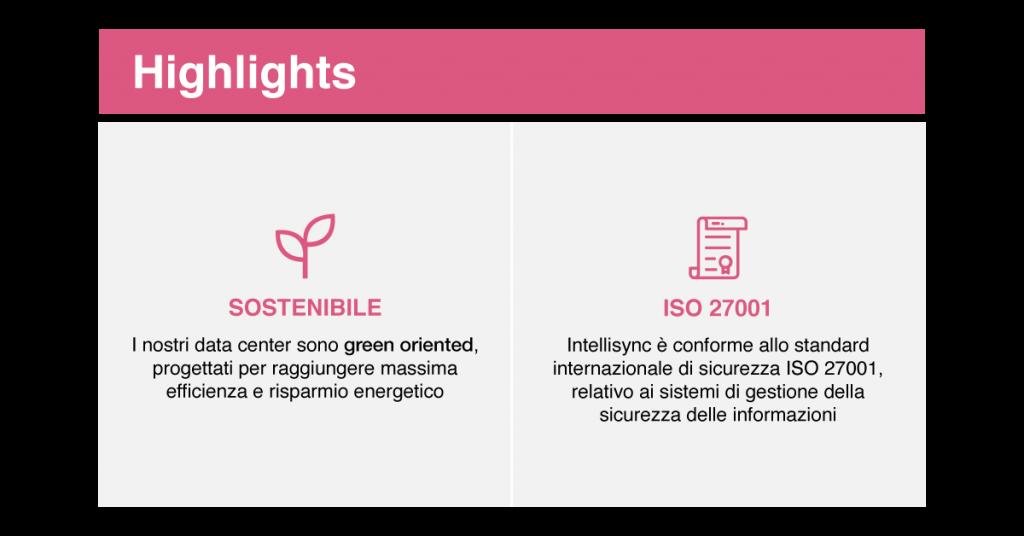 Le caratteristiche di sostenibilità e di conformità agli standard del data center di Intellisync